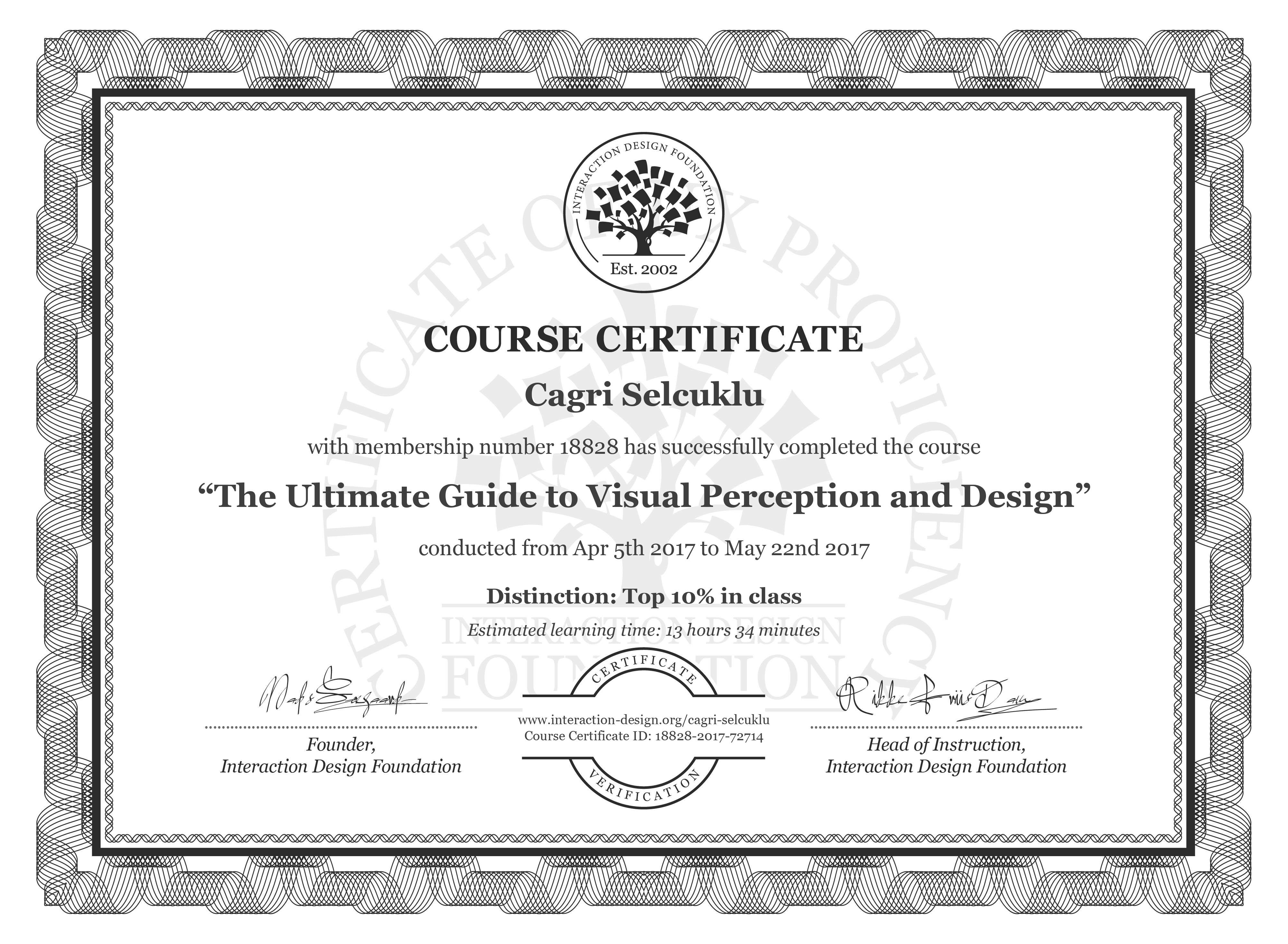 Cagri Selcuklu's Course Certificate: The Ultimate Guide to Visual Perception and Design