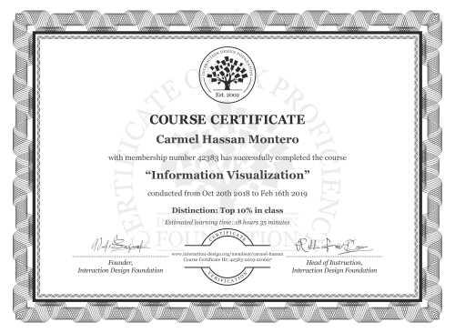 Carmel Hassan Montero's Course Certificate: Information Visualization