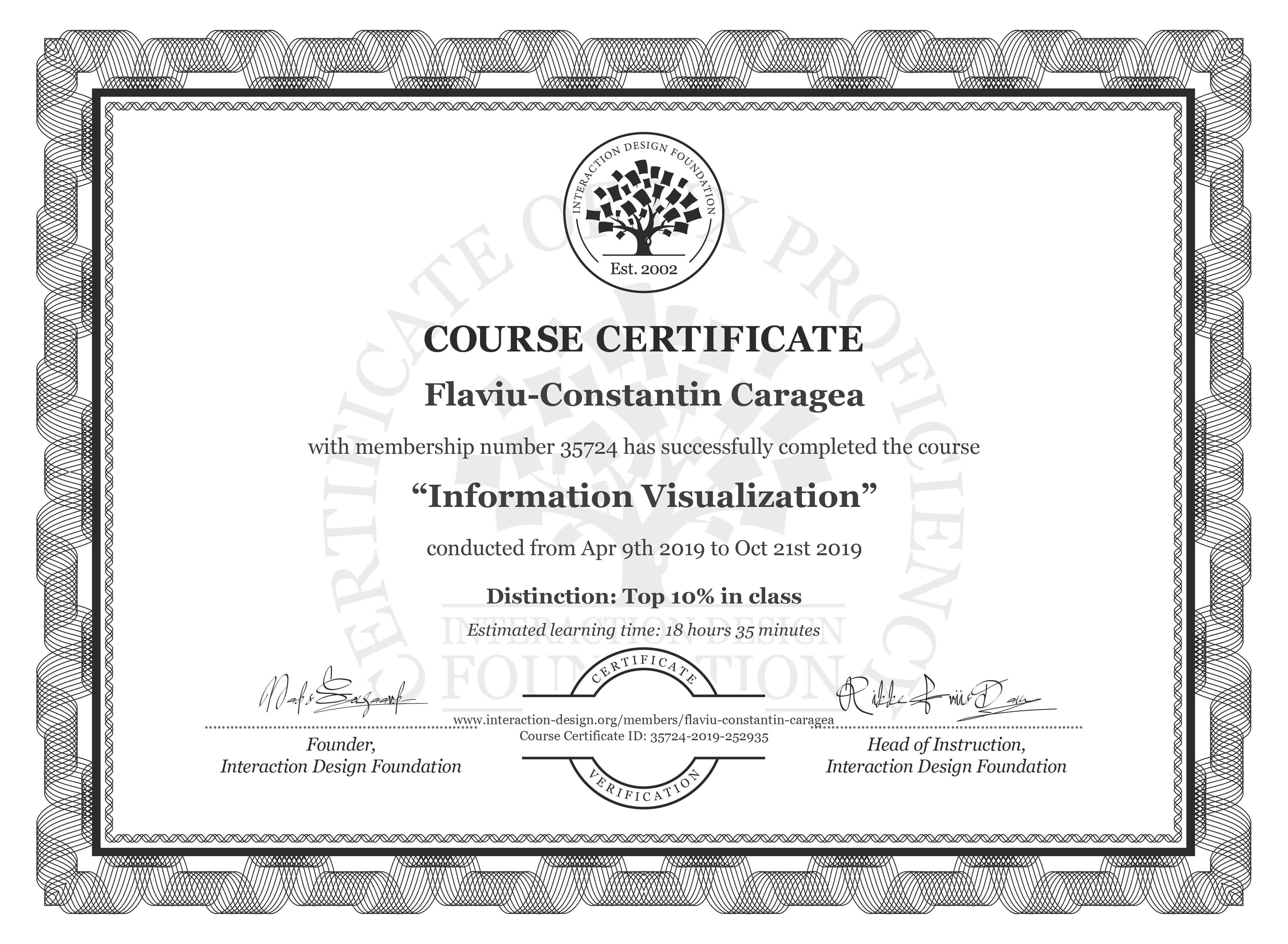 Flaviu-Constantin Caragea's Course Certificate: Information Visualization