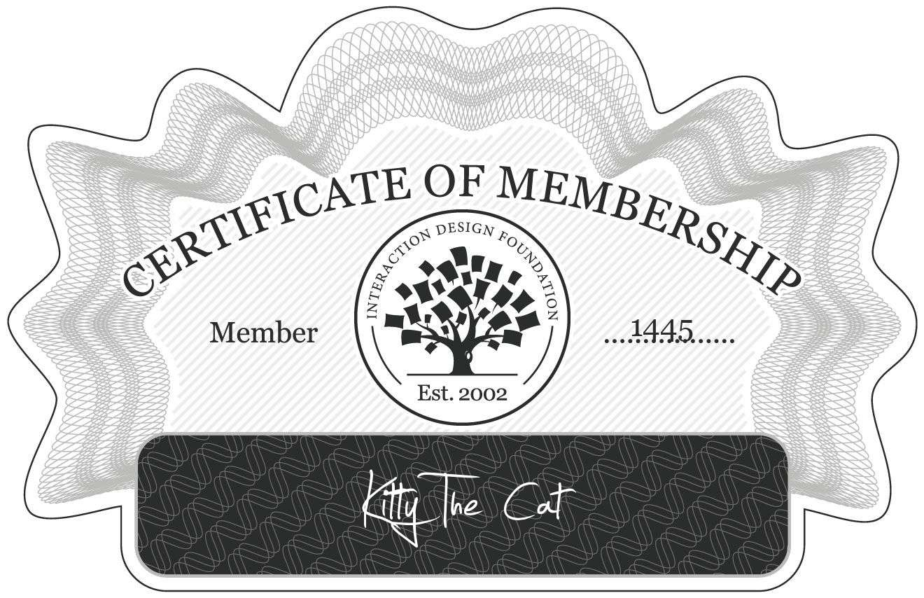 Armin Zahirovic: Certificate of Membership