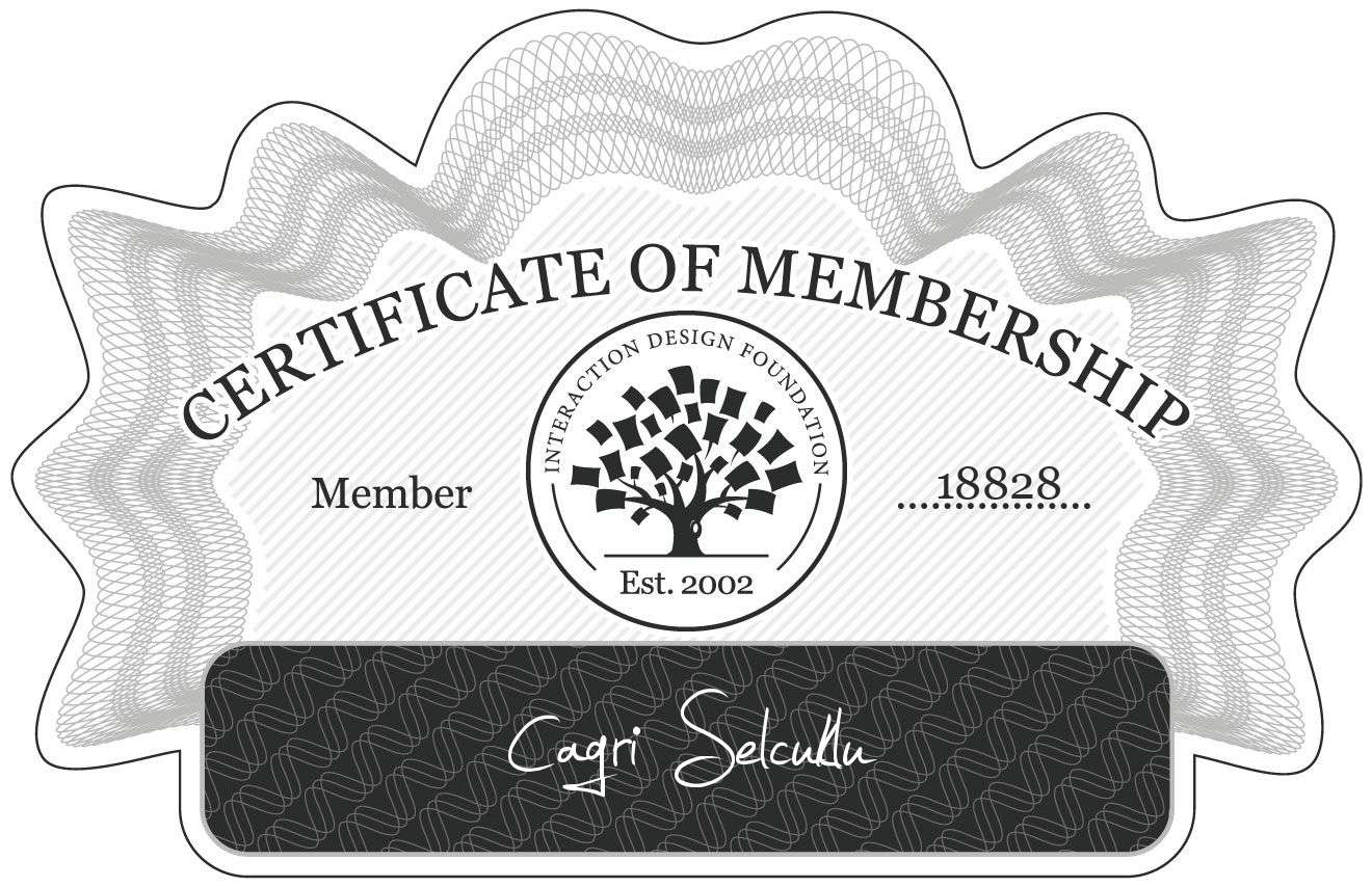 Cagri Selcuklu: Certificate of Membership