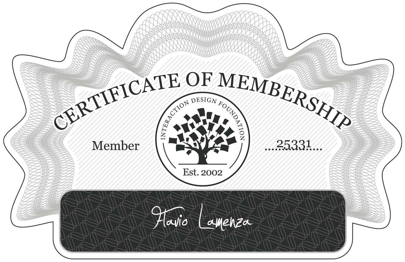 Flavio Lamenza: Certificate of Membership