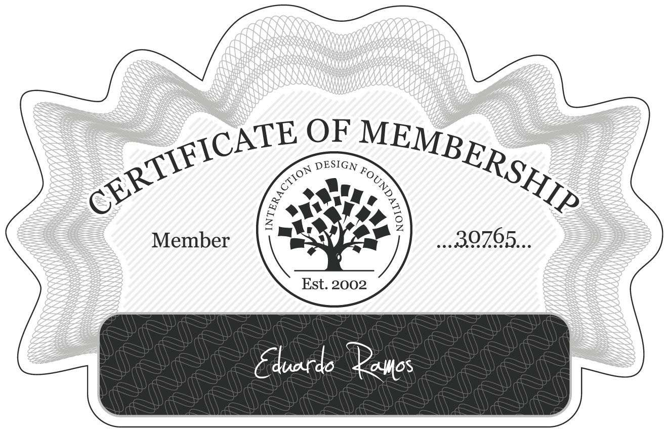 Eduardo Ramos: Certificate of Membership