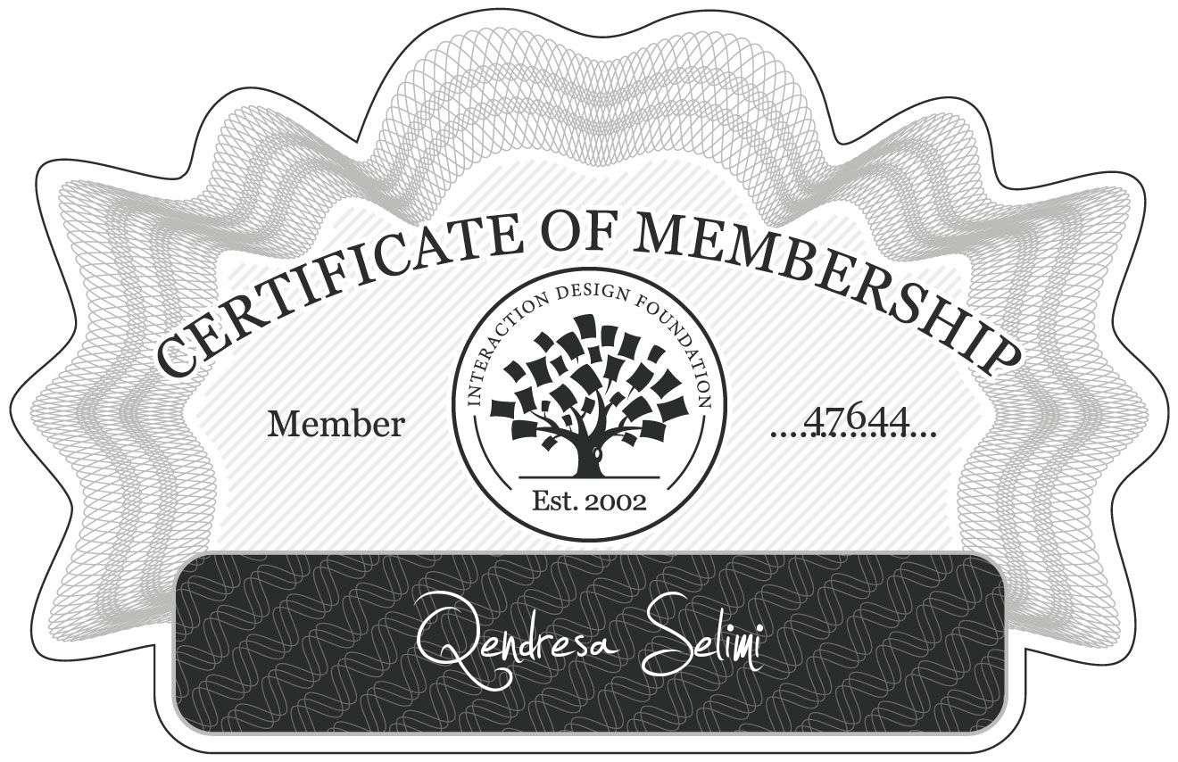 qendresa: Certificate of Membership