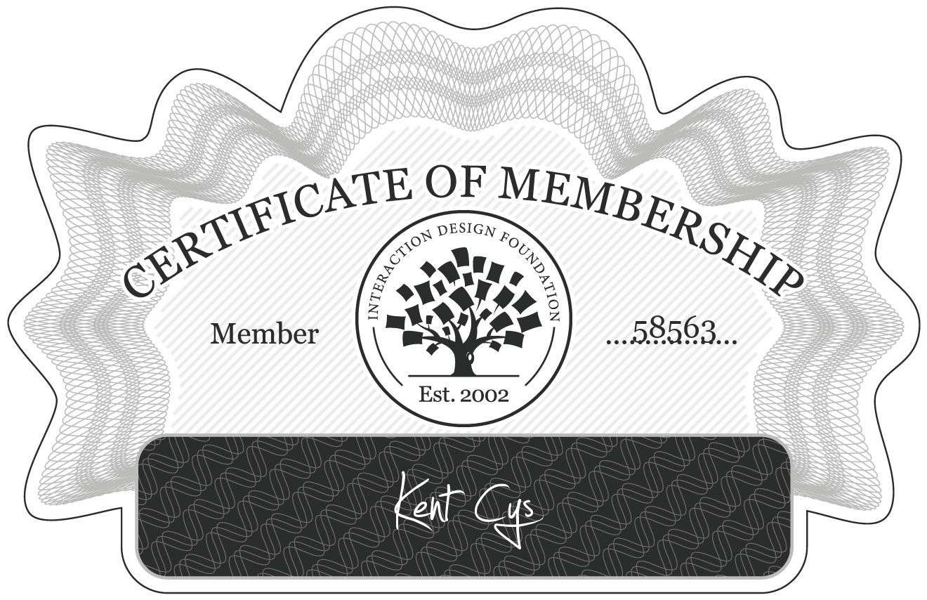 Kent Cys: Certificate of Membership
