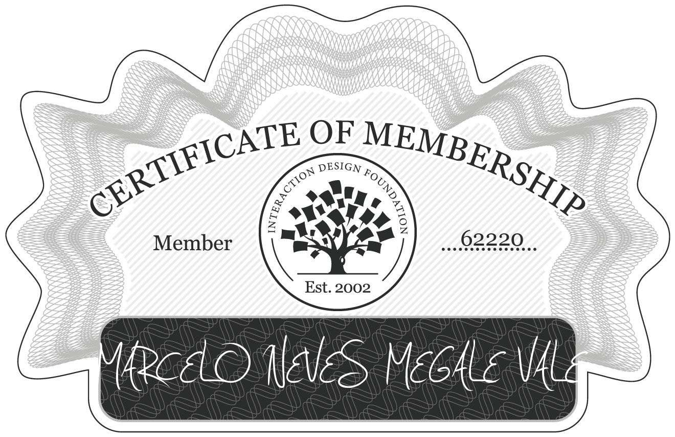 MARCELO NEVES MEGALE VALE: Certificate of Membership